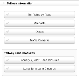 Tollway Information tools