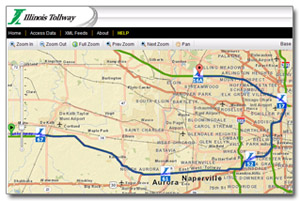Map Of Florida Turnpike Service Plazas.Illinois Tollway Web Map